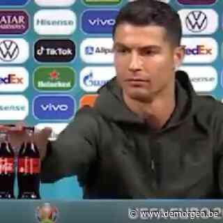 ▶ 'Drink water': Cristiano Ronaldo zet EK-sponsor Coca-Cola te kijk tijdens persconferentie