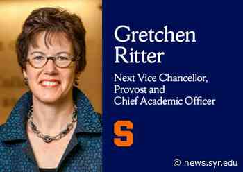 Gretchen Ritter Named Syracuse University's Next Vice Chancellor, Provost and Chief Academic Officer - Syracuse University News