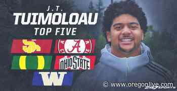 The sweepstakes for five-star football recruit J.T. Tuimoloau heats up - OregonLive