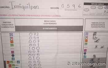 Ganador en Ixmiquilpan tomará posesión el 21 de julio próximo - Criterio Hidalgo