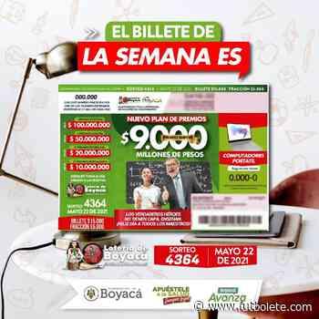 Resultado de la Lotería de Boyacá: sábado 12 de junio del 2021 - Futbolete