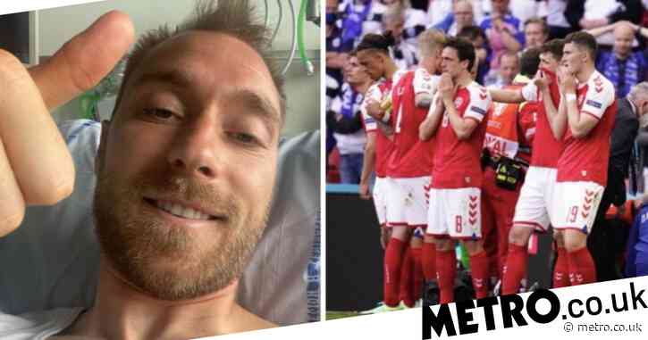 Christian Eriksen gives thumbs up in new selfie from hospital bed after cardiac arrest