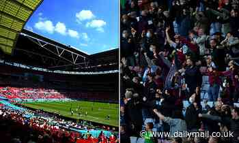 Aston Villa fan is recovering in hospital 'after breaking pelvis, leg, and ankles' in Wembley fall