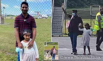 Emotional moment Sri Lankan asylum seeker family board plane out of Christmas Island