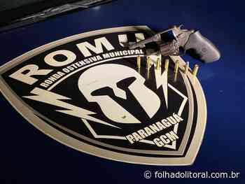 Rapaz é flagrado pela ROMU com revólver na cintura na Santa Maria - Folha do Litoral News