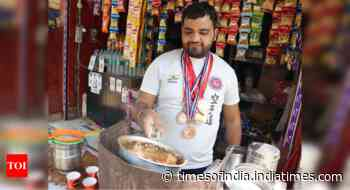 A karate player with over 60 tournament medals selling tea in Mathura - Times of India