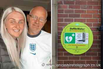 A Burnley woman's fundraising for defibrillators after dad's heart attack