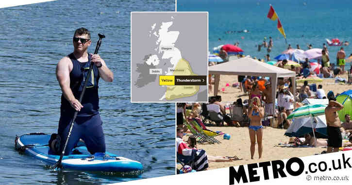Thunderstorms to batter UK after temperatures soar to 30°C