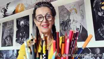 Malerin Antoinette öffnet Europa-Projekt für Besucher - Süddeutsche Zeitung