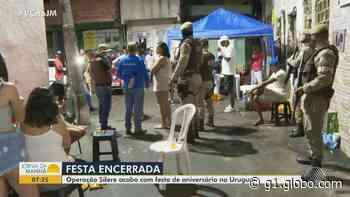 Fiscalização encerra festa de aniversário no bairro do Uruguai, em Salvador - G1
