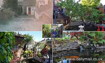 Father-of-two, 53, spends 10 years transforming his back garden into Japanese-inspired paradise