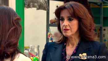 Socorro trata de controlar sus nervios ante la mujer de Eduardo en Amar es para siempre - Antena 3