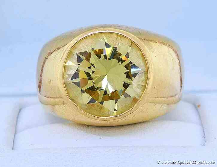 $70,800 Yellow Diamond Men's Ring Tops A Strong Bill Smith Sale