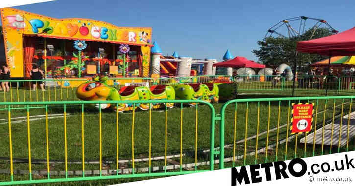 Boy, 3, taken to hospital after being 'run over by caterpillar ride'