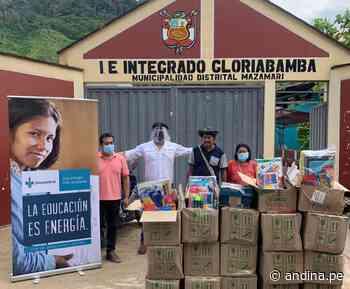 Vraem: 500 estudiantes de Satipo recibieron kits escolares para asistir a clases - Agencia Andina