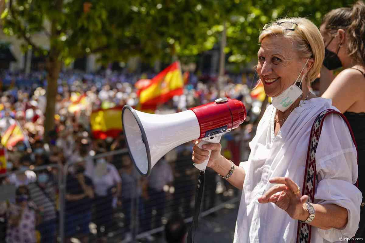La manifestación en Colón - EL PAÍS