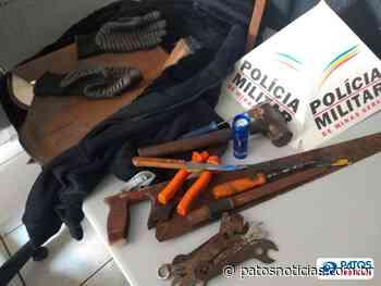 PM prende suspeito de furtar ferramentas no Centro Clínico Universitário - Patos Notícias