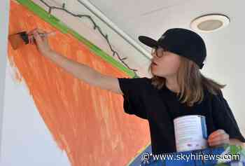 Young creative helps design new mural on Granby's main street - Sky Hi News