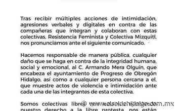 Colectivas feministas de Progreso acusan amenazas en su contra - El Sol de Hidalgo
