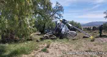 Helicóptero de Sedena se desploma cerca de Santa Lucía; no hay heridos - SinEmbargo
