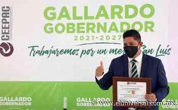 Ricardo Gallardo recibe constancia de mayoría como gobernador electo de San Luis Potosí   El Universal - El Universal