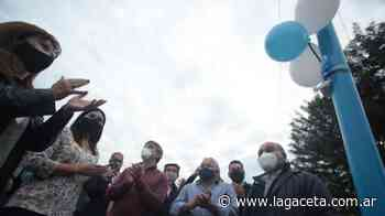 Santa Lucía: para disminuir siniestros viales, inauguraron luminarias led - Actualidad | La Gaceta - LA GACETA
