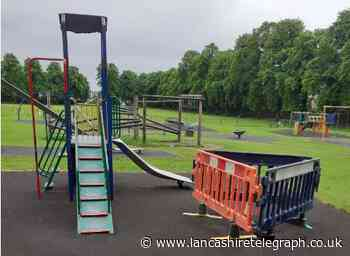 Vandals wreck play area in historic castle grounds