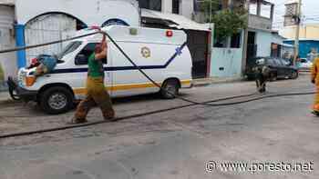 Incendio consume cuartos de lámina en la colonia Salitral, Ciudad del Carmen - PorEsto