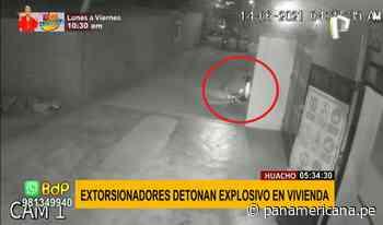 Pánico en Huacho: extorsionadores detonan explosivo en puerta de vivienda - Panamericana Televisión