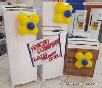 Loja Colombo realiza, hoje (14), a terceira etapa da campanha 'Trocou, economizou Copel', em Marechal Rondon - Portal Rondon