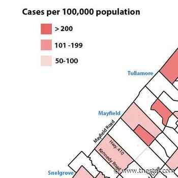 COVID-19 MAP: Hot spots fading across Brampton but many still remain in June 11 report - Toronto Star