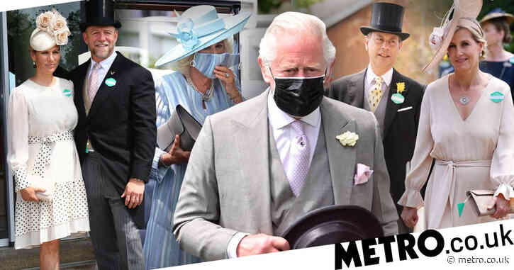 Charles and Camilla join glamorous racegoers at Royal Ascot as Queen misses out