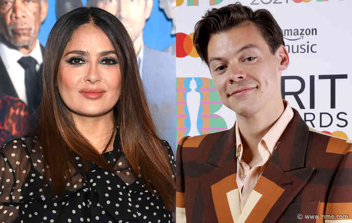 Salma Hayek's pet owl once coughed up a hairball on Harry Styles' head