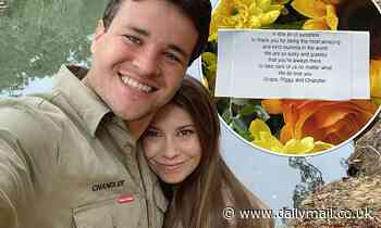 Chandler Powell gives wife Bindi Irwin 'a little bit of sunshine' as he professes his love for her