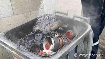 Brennende Mülltonne am Friedhof: Wehr rückte aus - NÖN.at