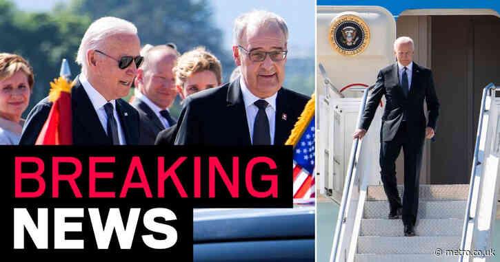 Joe Biden lands in Geneva for Putin summit after meeting with EU leaders