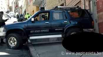 Joven es arrollada en la calle Alcoreza de La Paz - Diario Pagina Siete
