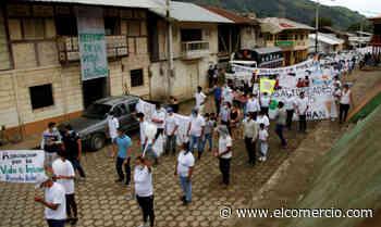 Una marcha por la paz se cumplió en Telimbela, Bolívar - El Comercio - El Comercio (Ecuador)