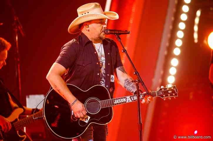 Jason Aldean Takes 'Blame' to Hot Country Songs Top 10, Brett Young's Big Week With 'Weekends'