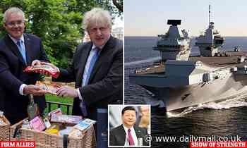 British PM Boris Johnson backs Australia's fight against China
