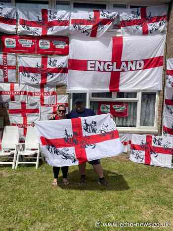 Basildon family decorate home with 56 England flags - Echo