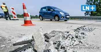 Hitzeschaden: Beton auf A 1 zwischen Pansdorf und Ratekau aufgebrochen - Lübecker Nachrichten