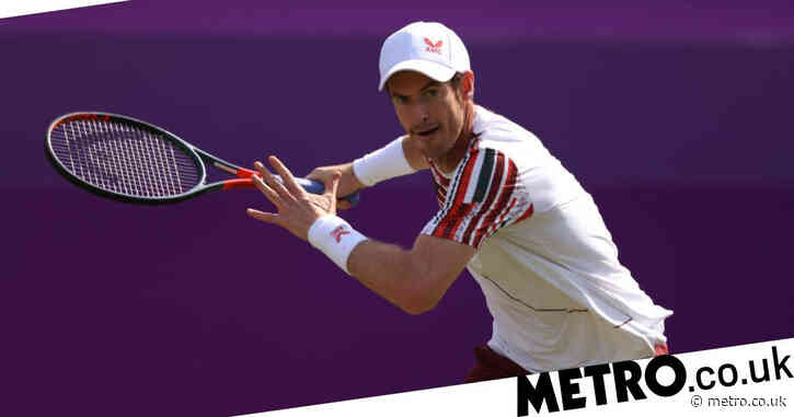 Andy Murray wins first singles match in Britain for three years to delight of Queen's crowd