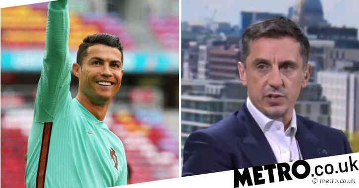 Gary Neville 'mesmerised' as fellow Manchester United legend Cristiano Ronaldo makes history at Euro 2020