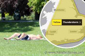 Weather: Met Office issues thunderstorms warning for Herefordshire - Hereford Times