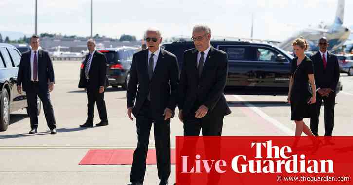 Joe Biden arrives in Geneva for summit with 'worthy adversary' Putin – live