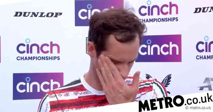Emotional Andy Murray fights back the tears after winning return at Queen's