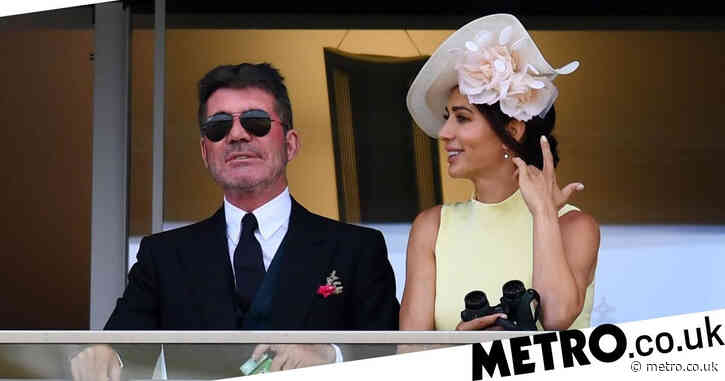 Simon Cowell swaps the T-shirt for a tailcoat as he scrubs up for Ascot with girlfriend Lauren Silverman and pal Sinitta