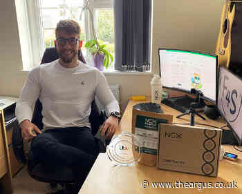 Chichester student's fitness business wins pitch on BBC's Dragon's Den