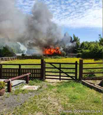 Six fire crews called to tackle building blaze in Spofforth